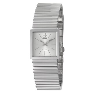 Calvin Klein Men's Silvertone Stainless Steel Watch