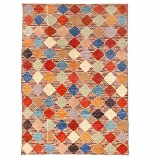 Herat Oriental Afghan Hand-knotted Gabbeh Multicolor Wool Rug (11'5 x 16'2)