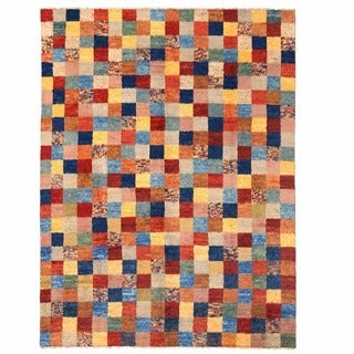 Herat Oriental Afghan Hand-knotted Gabbeh Multicolor Wool Rug (11'3 x 15')