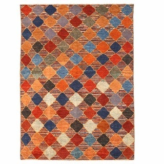 Herat Oriental Afghan Hand-knotted Gabbeh Multicolor Wool Rug (11'4 x 15'9)