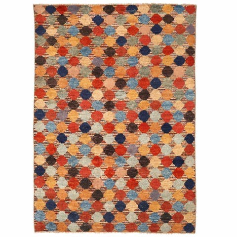Handmade One-of-a-Kind Shag Gabbeh Wool Rug (Afghanistan) - 10'8 x 15'4