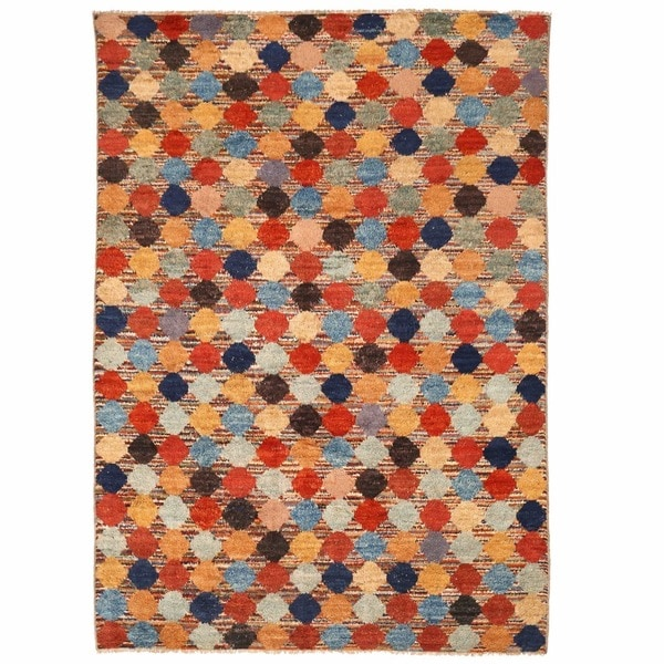 Herat Oriental Afghan Hand-knotted Shag Gabbeh Wool Rug (10'8 x 15'4)