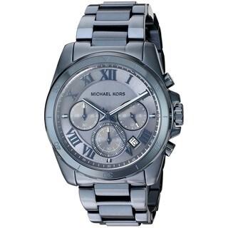 Michael Kors Women's 'Brecken' Chronograph Blue Stainless Steel Watch