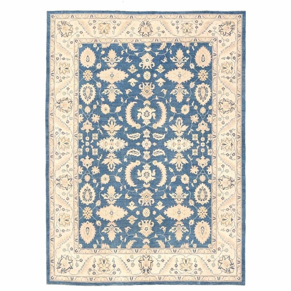 Herat Oriental Afghan Hand-knotted Oushak Wool Rug (8'11 x 12')