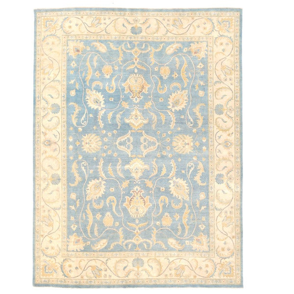 Herat Oriental Afghan Hand-knotted Oushak Wool Rug (9' x 12'1)