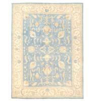 Handmade Herat Oriental Afghan Oushak Wool Rug (Afghanistan) - 9' x 12'1