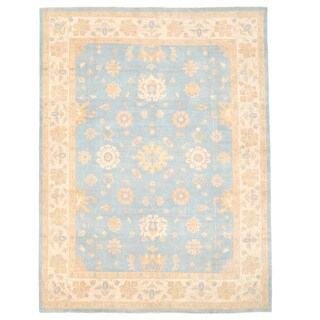 Herat Oriental Afghan Hand-knotted Oushak Wool Rug (8'10 x 11'11)
