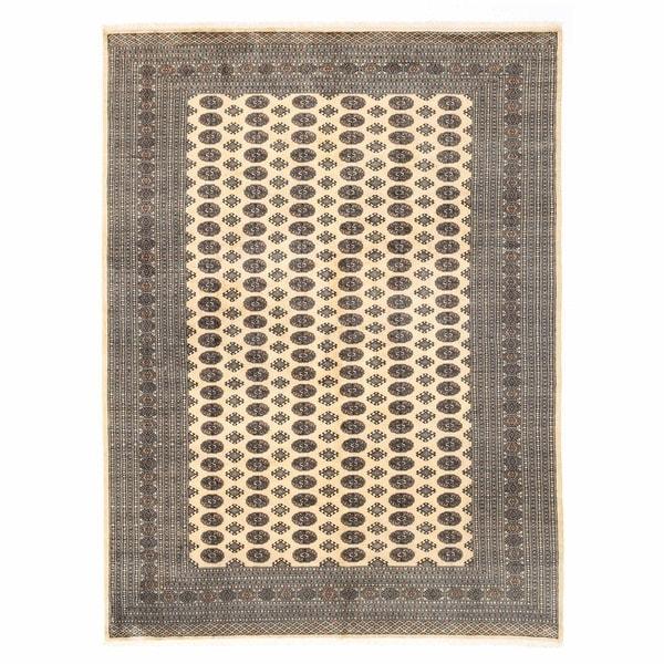 Handmade Herat Oriental Pakistani Bokhara Wool Rug (Pakistan) - 9'1 x 12'3