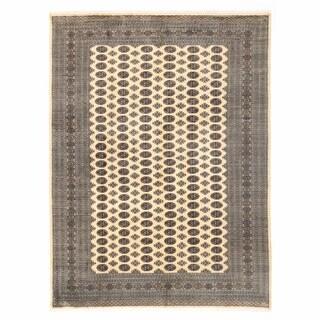 Handmade Herat Oriental Pakistani Bokhara Wool Rug - 9'1 x 12'3 (Pakistan)