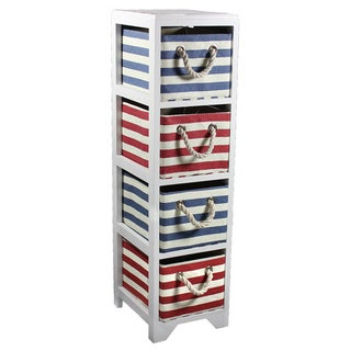 Entrada Four-drawer Striped Storage Bin