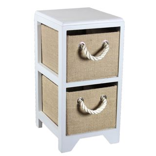 Multicolor MDF 2-drawer Compact Bin Storage