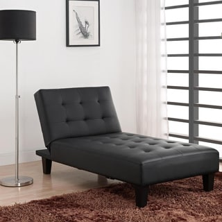 DHP Julia Black Chaise Lounger