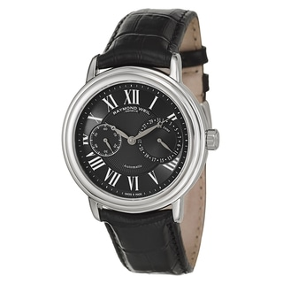 Raymond Weil Men's Black Leather Automatic Watch