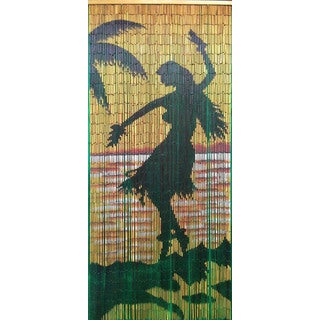 Handmade Hula Girl Silohuette Curtain (Vietnam)