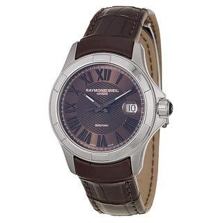Raymond Weil Men's Brown Leather Watch