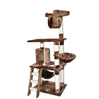 Kitty Mansions Boston Brown Cat Tree