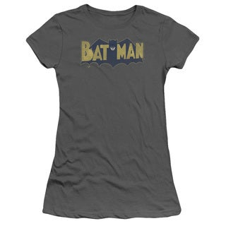 Batman/Vintage Logo Splatter Junior Sheer in Charcoal