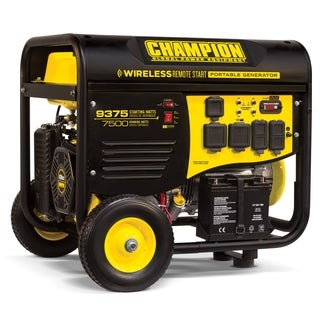 Champion Power Equipment 7,500-watt Gasoline-powered Wireless Remote Start Portable Generator With Champion 439cc Engine