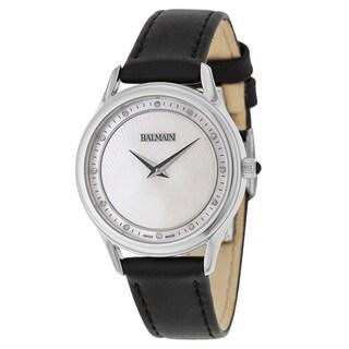 Balmain Men's Black Leather Watch