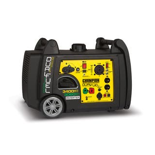 Champion Power Equipment 3400W Dual Fuel Push-button Electric Start Portable Inverter Generator with Parallel Capability|https://ak1.ostkcdn.com/images/products/11904141/P18797377.jpg?impolicy=medium