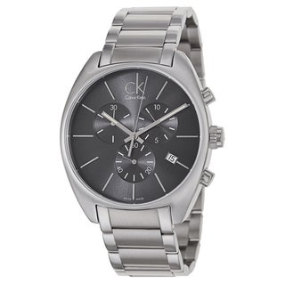 Calvin Klein Men's Black/Silvertone Stainless Steel Watch