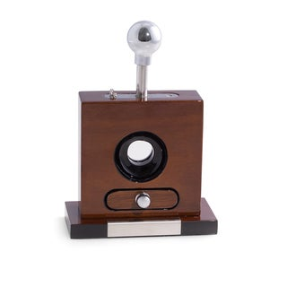 Brown Walnut Wood Table-top Cigar Cutter