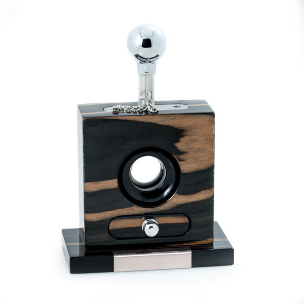Ebony Wood Table-top Cigar Cutter