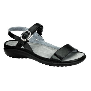 Naot Footwear Women's Mozota Black Suede/Leather/Polyurethane Comfort Sandal