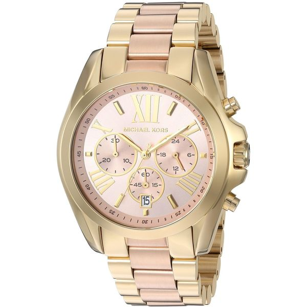 1b023d374761 Shop Michael Kors Women s MK6359  Bradshaw  Chronograph Two-Tone Stainless Steel  Watch - Free Shipping Today - Overstock - 11904168