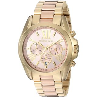 Michael Kors Women's 'Bradshaw' Chronograph Two-Tone Stainless Steel Watch