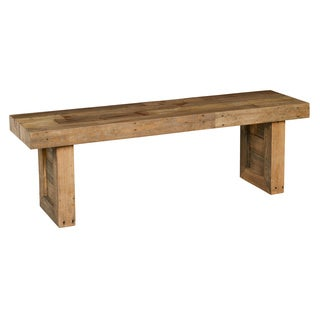 Kosas Home Hand Crafted Natural Recovered Shipping Pallets 55 Inch Bench