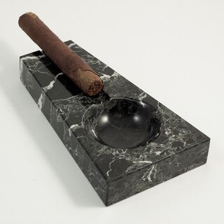 Black Marble Single Cigar Ashtray