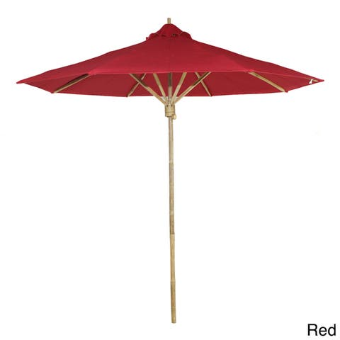 7 Foot Bamboo Umbrella With Polyester Canvas