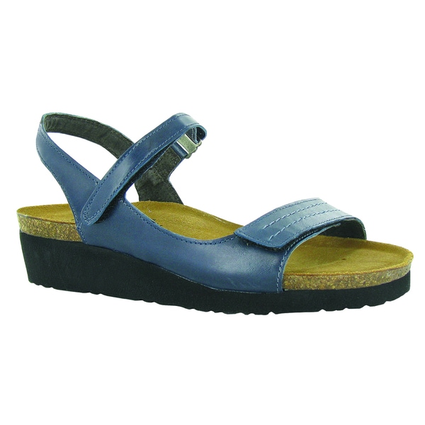 ea5cd6c7acc0 Naot Footwear Women  x27 s Madison Blue EVA Leather Suede Comfort Adjustable
