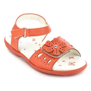Jelly Beans Girls' Faux Leather Flat Sandals