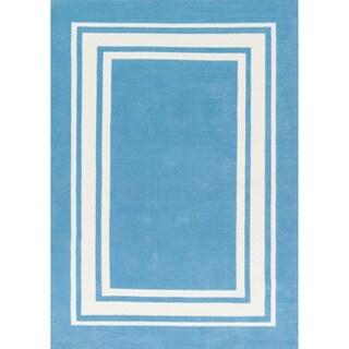 Microfiber Kit Blue Sky Rug (5'0 x 7'0)