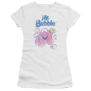 Mr Bubble/80S Logo Junior Sheer in White