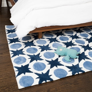 Microfiber Kit Denim Rug (5'0 x 7'0)