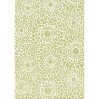 Microfiber Kit Bubble Green Rug (5'0 x 7'0)