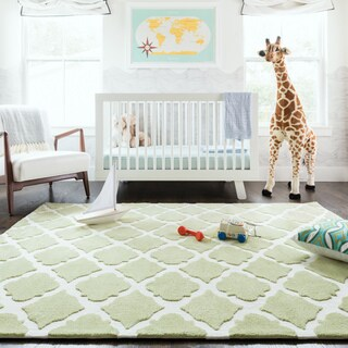Microfiber Kit Diamond Green Rug (5'0 x 7'0)