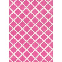 Microfiber Kit Bubble Gum Pink Rug - 5'0 x 7'0