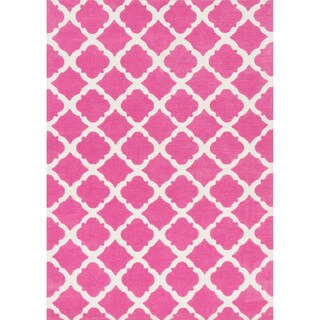 Microfiber Kit Bubble Gum Pink Rug - 5'0 x 7'0