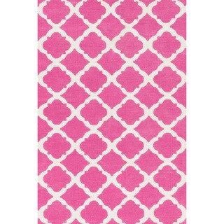 Microfiber Kit Bubble Gum Pink Rug (2'0 x 3'0) - 2' X 3'