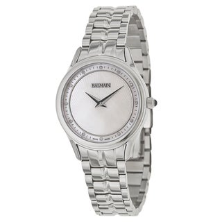 balmain watches overstock com the best prices on designer mens balmain men s silvertone stainless steel swiss quartz watch