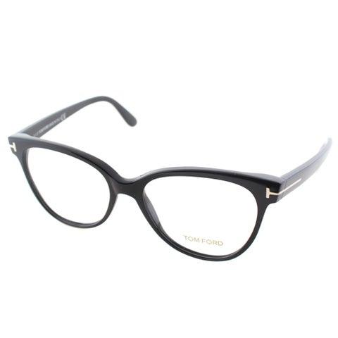 Tom Ford Women's FT 5291 001 Black Plastic Cat Eye Eyeglasses