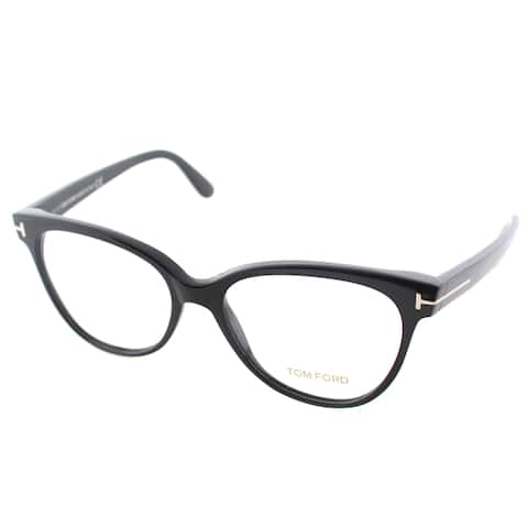 3629efcd4c Tom Ford Women s FT 5291 001 Black Plastic Cat Eye Eyeglasses
