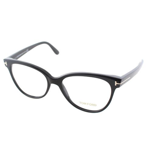Tom Ford Women's FT 5291 001 Black Plastic Cat Eye Eyeglasses
