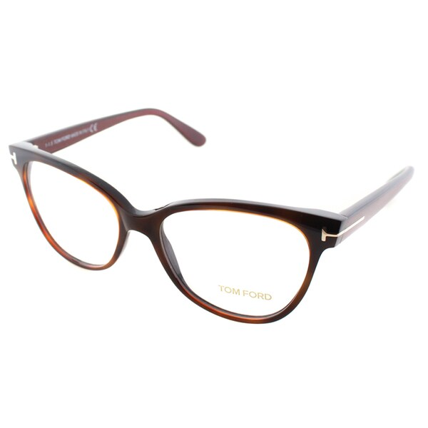 f182c6fb0ca33 Shop Tom Ford Women s Brown Plastic Cat-eye Eyeglasses - Free ...