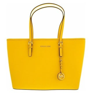 Michael Kors Jet Set Travel Medium Top Zip Sunflower Multifunction Tote Bag