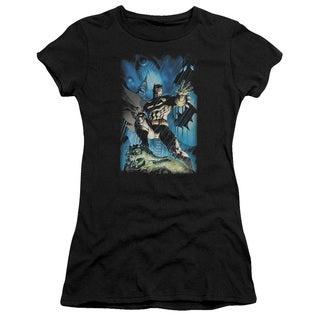 Batman/Stormy Dark Knight Junior Sheer in Black